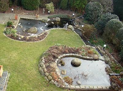 gartenteich-anlage selbst erstellt – zwei gartenteiche mit einem, Garten und Bauen
