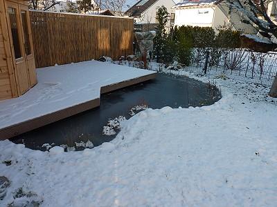 zugefrorener Teich - Was tun?
